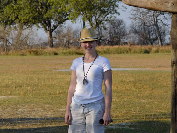 Carlien Parsons - on a walking safari in the Okavango Delta